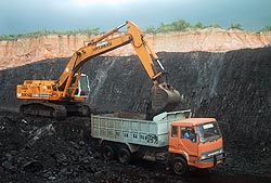 Indonesian open-cast coal mine