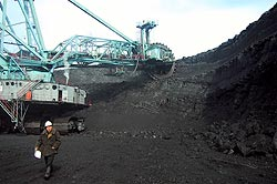 Khazakhstan open-cast coal mine
